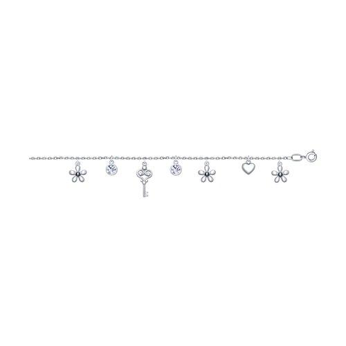 Браслет из серебра с фианитами (94050446) - фото