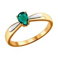Кольцо из золота с изумрудом