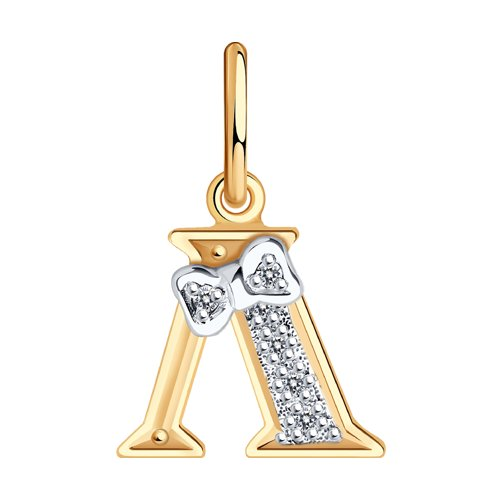 Золотая подвеска-буква «Л»