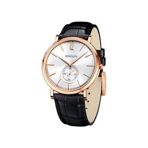Мужские золотые часы (209.01.00.000.03.01.3) - фото