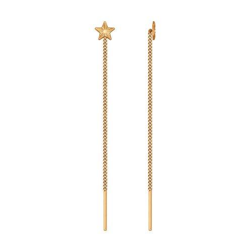 Серьги из золота (020599-9) - фото