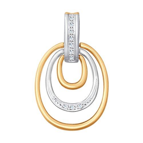 Подвеска из золота с бриллиантами (1030657) - фото