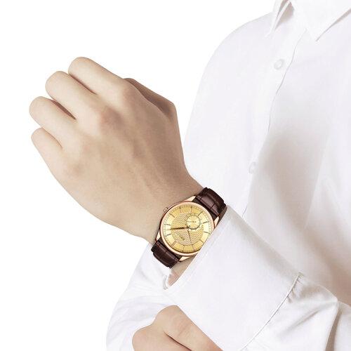 Мужские золотые часы (237.01.00.000.04.02.3) - фото №3