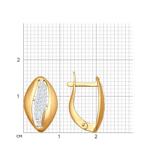 Серьги из золочёного серебра с фианитами (93020602) - фото №2