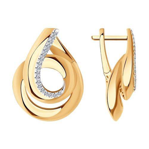Серьги из золота с бриллиантами 1021617 SOKOLOV фото