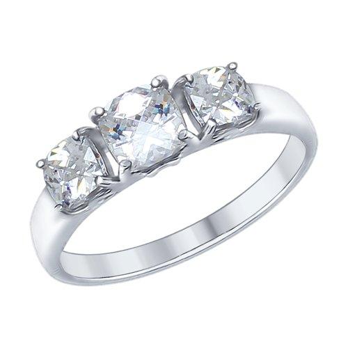 Кольцо из серебра со Swarovski Zirconia (89010066) - фото