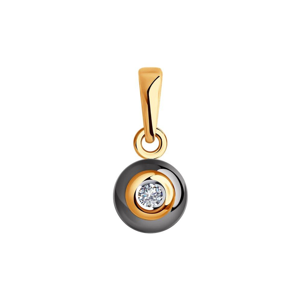 Подвеска SOKOLOV из золота с бриллиантом и керамикой