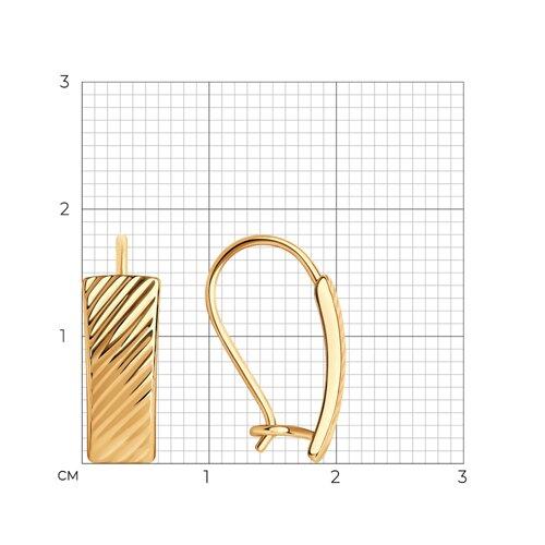 Серьги из золота с алмазной гранью 027076 SOKOLOV фото 2