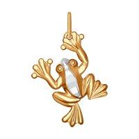 Золотая подвеска «Лягушка»