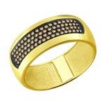 Кольцо из желтого золота с коньячными бриллиантами
