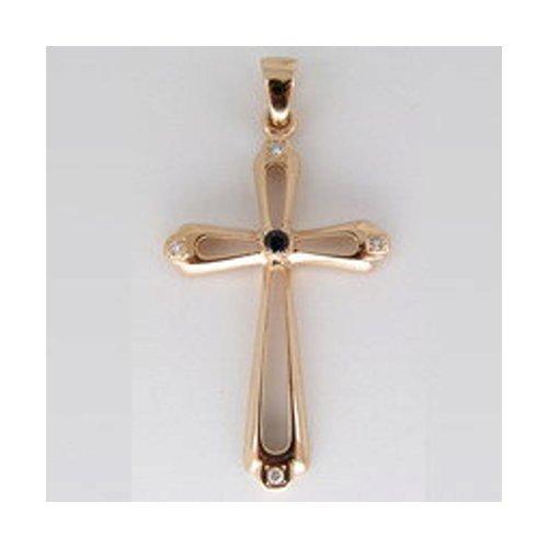 Крест SOKOLOV из золота с бриллиантами и сапфиром крест из белого золота с бриллиантами и сапфиром