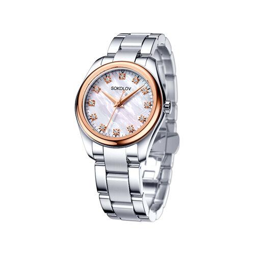 Женские часы из золота и стали (140.01.71.000.02.01.2) - фото