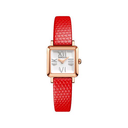 Женские золотые часы (231.01.00.000.01.03.2) - фото №2