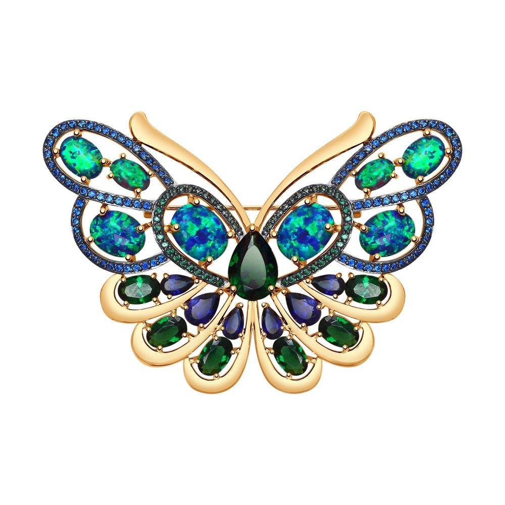 Брошь в форме бабочки SOKOLOV из золота брошь в форме листка sokolov из белого золота