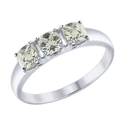 Кольцо из серебра со Swarovski Zirconia (89010063) - фото