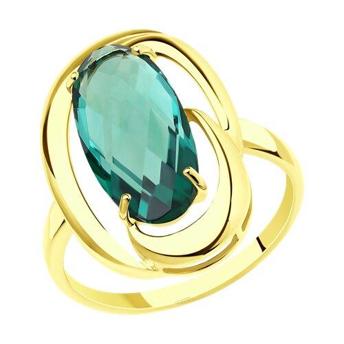 Кольцо из желтого золота с кварцем (714345-2) - фото