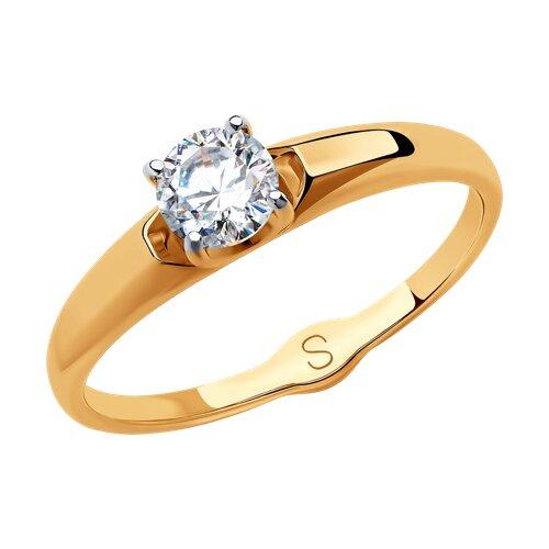 Кольцо из золота со Swarovski Zirconia (81010429) - фото