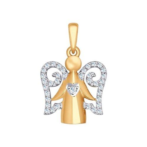 Подвеска «Ангел» SOKOLOV из золота с фианитами подвеска на цепочке с открыткой ангел