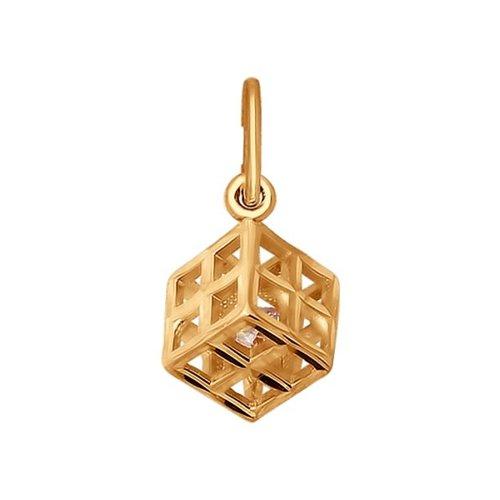 Подвеска «Кубик» SOKOLOV из золота macik кубик подвеска macik попугай шалун