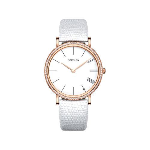 Женские золотые часы (210.01.00.001.01.02.2) - фото №2