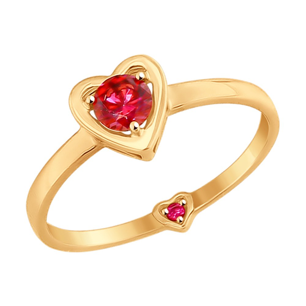 Золотое кольцо «Сердце» SOKOLOV золотое кольцо ювелирное изделие 01k662873j