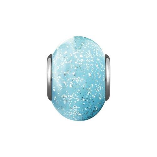 Подвеска-шарм, Голубое муранское стекло цена 2017