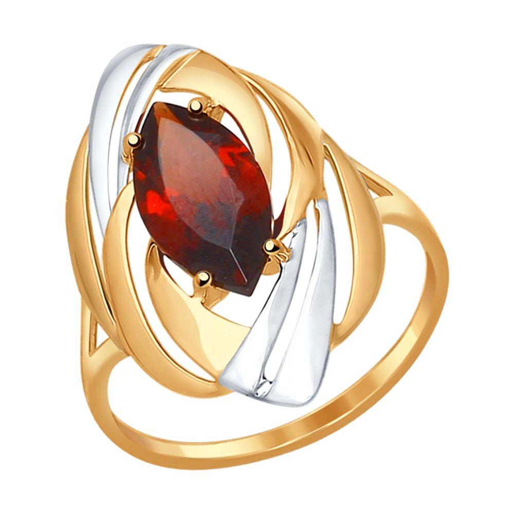 Кольцо SOKOLOV из золота с гранатом