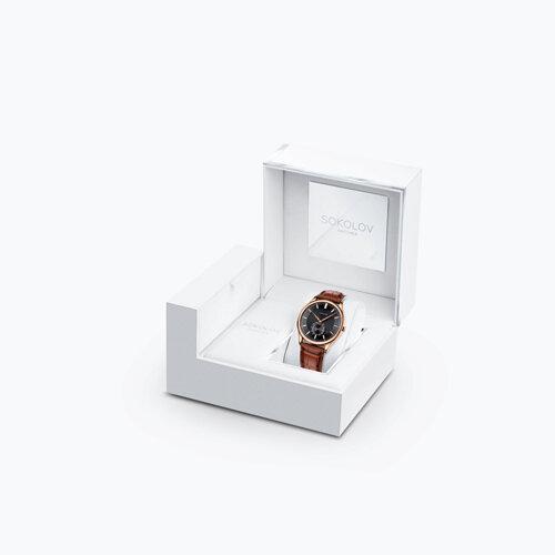 Мужские золотые часы (237.01.00.000.05.03.3) - фото №4