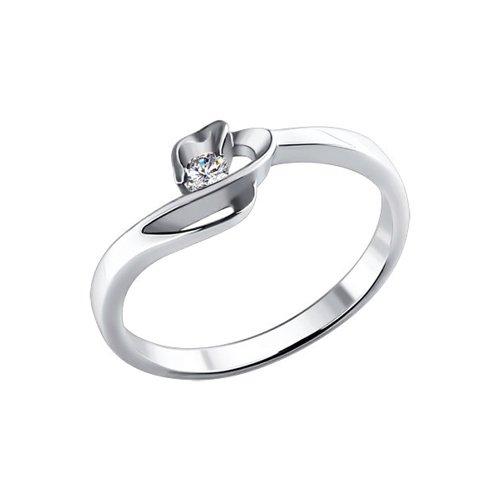 Помолвочное кольцо SOKOLOV из белого золота 585 пробы
