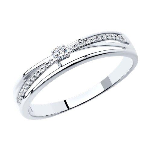 Кольцо из белого золота с бриллиантами (1011321) - фото