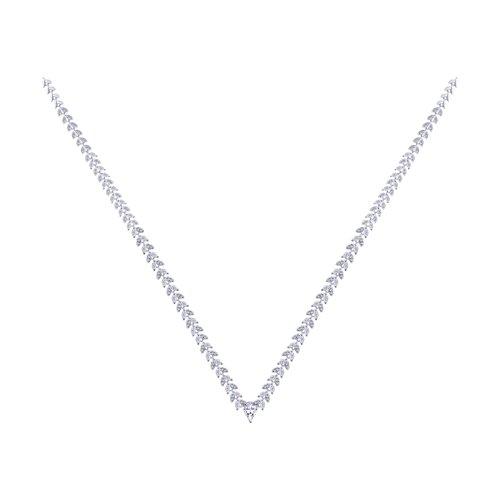 Колье из серебра с фианитами (94070230) - фото