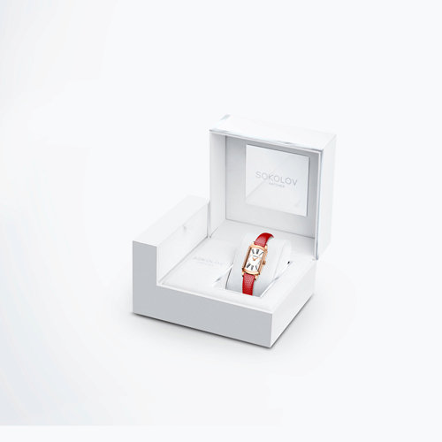 Женские золотые часы (222.01.00.100.01.04.3) - фото №4