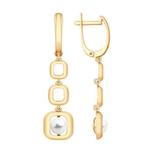 Серьги из золота с жемчугом (792086) - фото