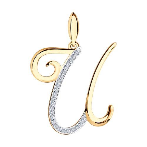 Кулон-буква «И» SOKOLOV из золота фото