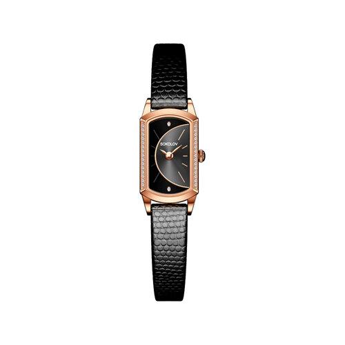 Женские золотые часы (222.01.00.100.06.01.3) - фото №2