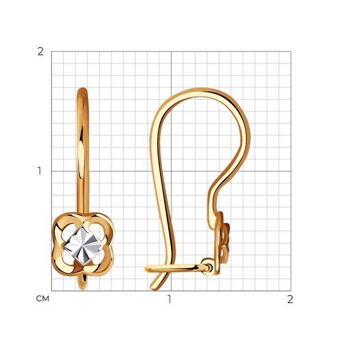 Серьги из золота с алмазной гранью 027766 SOKOLOV фото 2