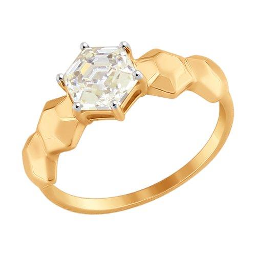 Кольцо из золота со Swarovski Zirconia (81010339) - фото