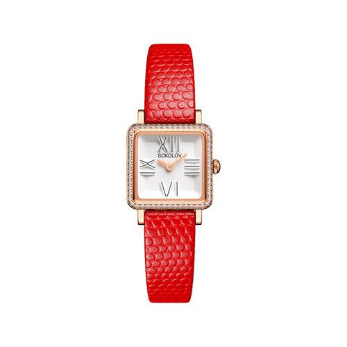 Женские золотые часы (232.01.00.001.01.03.2) - фото №2