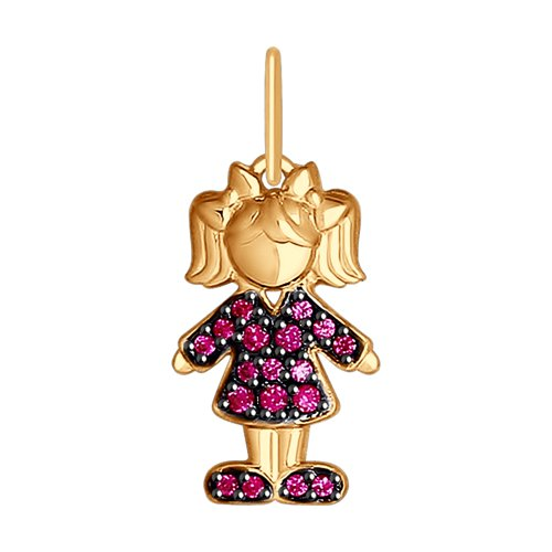 Подвеска «Девочка» из золота (035223) - фото