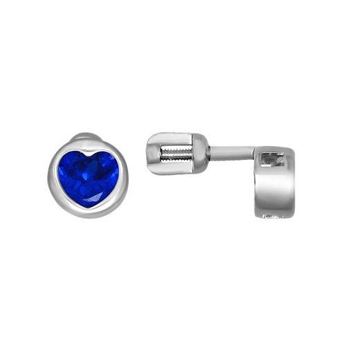 Серьги-пусеты SOKOLOV из серебра с синими фианитами eshvi позолоченные серьги пусеты из серебра eshvi