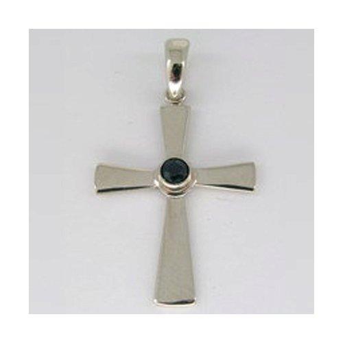 Крест SOKOLOV из белого золота с сапфиром крест из белого золота с бриллиантами и сапфиром