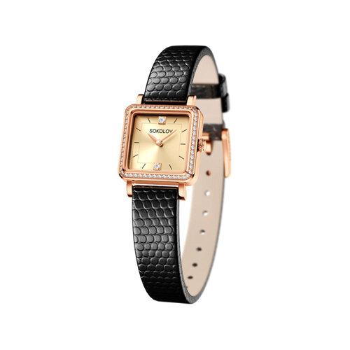 Женские золотые часы (232.01.00.001.06.01.2) - фото