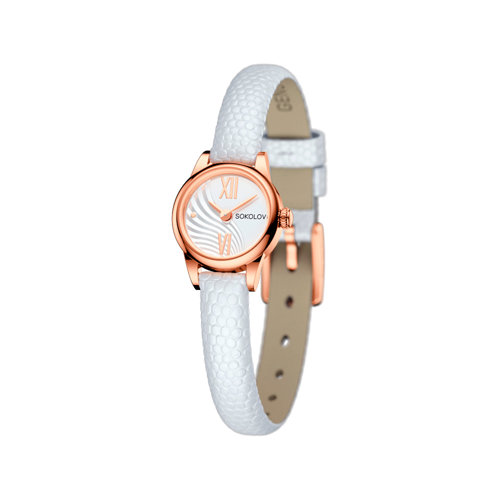 Женские золотые часы (211.01.00.000.04.02.3) - фото