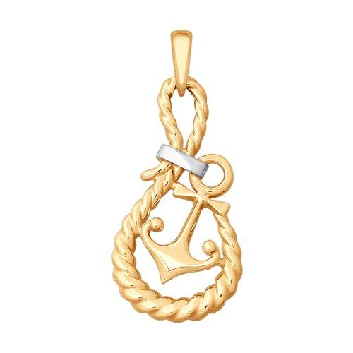 Подвеска «Якорь» из золота подвеска шарм якорь