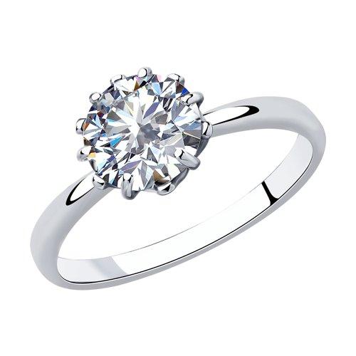 Кольцо из серебра со Swarovski Zirconia (89010125) - фото