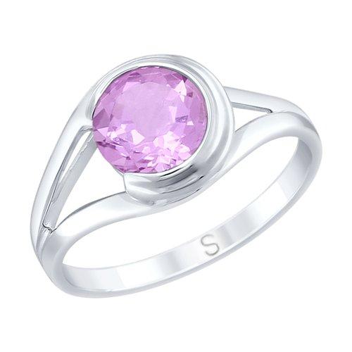 Кольцо из серебра с аметистом (92011732) - фото