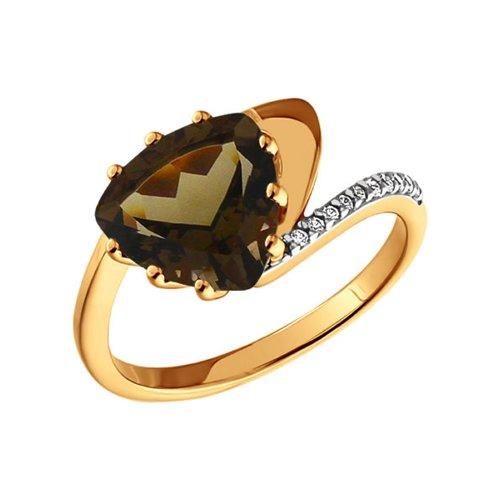Кольцо с раухтопазом SOKOLOV из золота