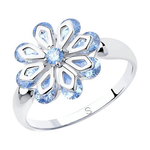Кольцо из серебра (94012988) - фото