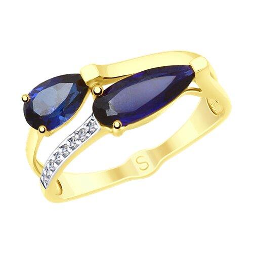 Кольцо из желтого золота (715263-2) - фото