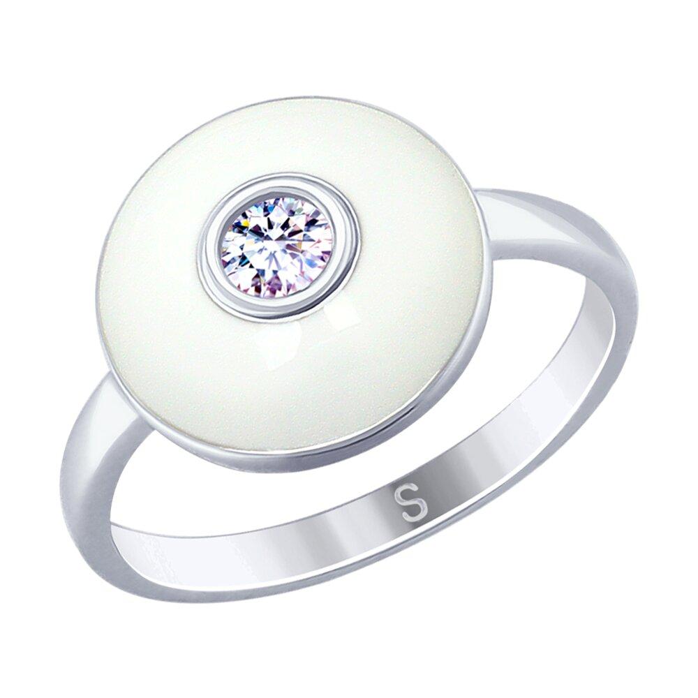 Кольцо SOKOLOV из серебра с эмалью и фианитом фото